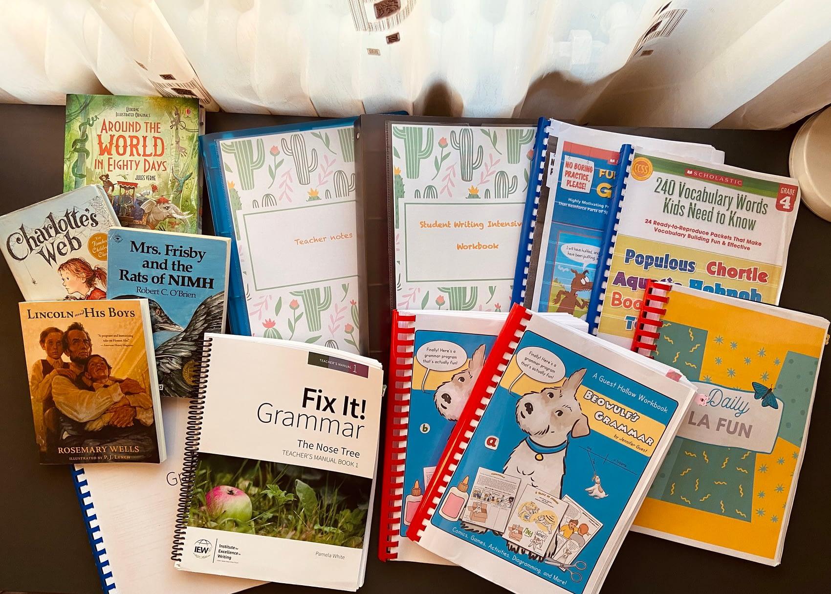 Language Arts Curriculum for 4th grade homeschooling
