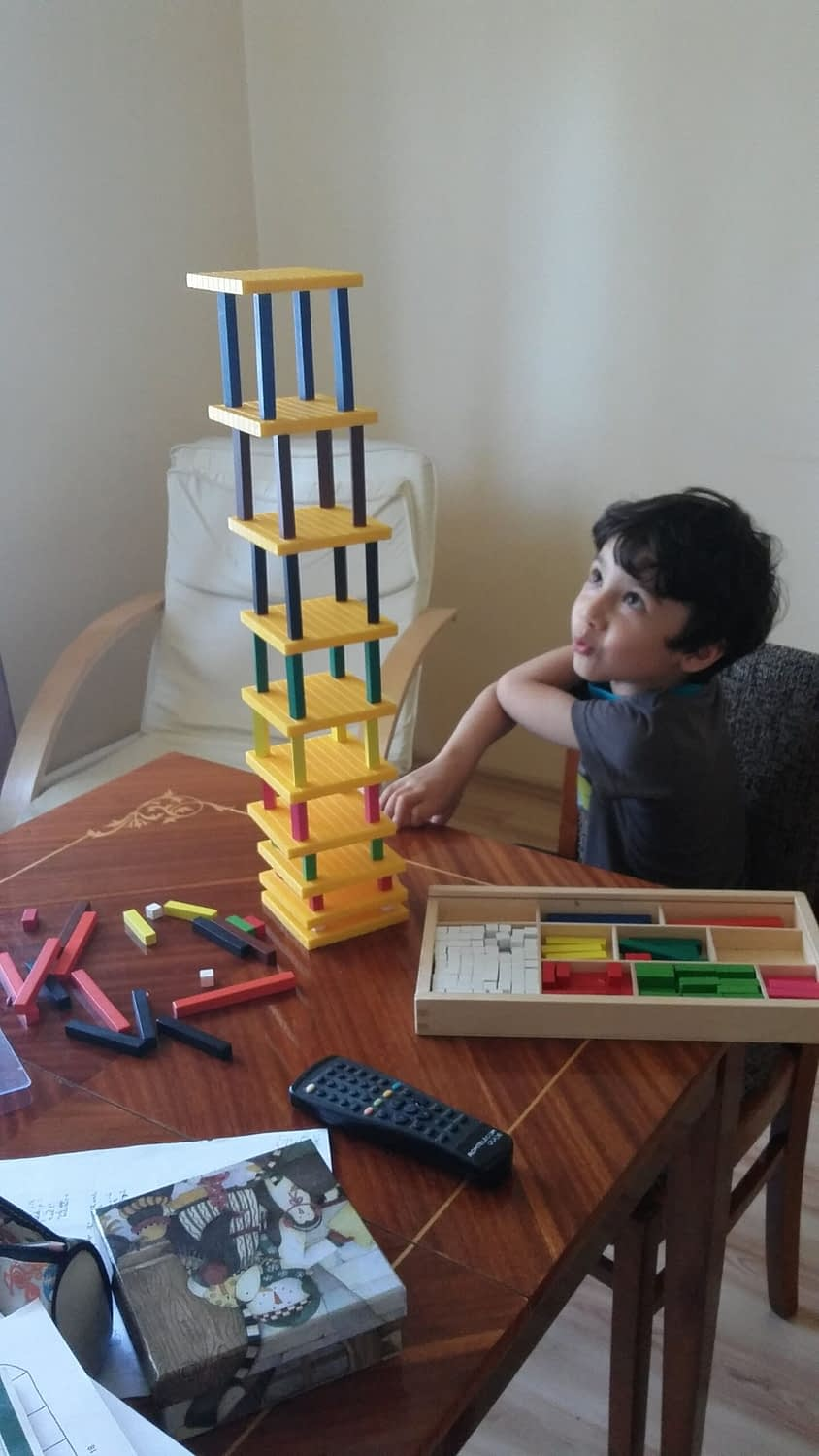 cuisenaire tower