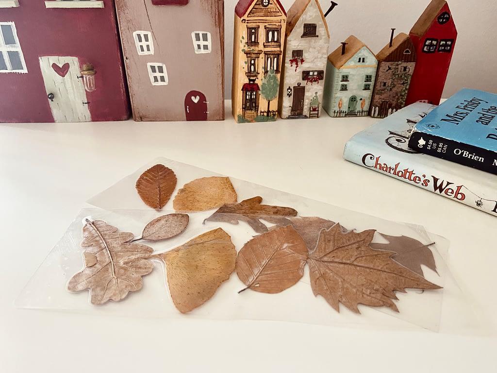 laminated leaves bookmark