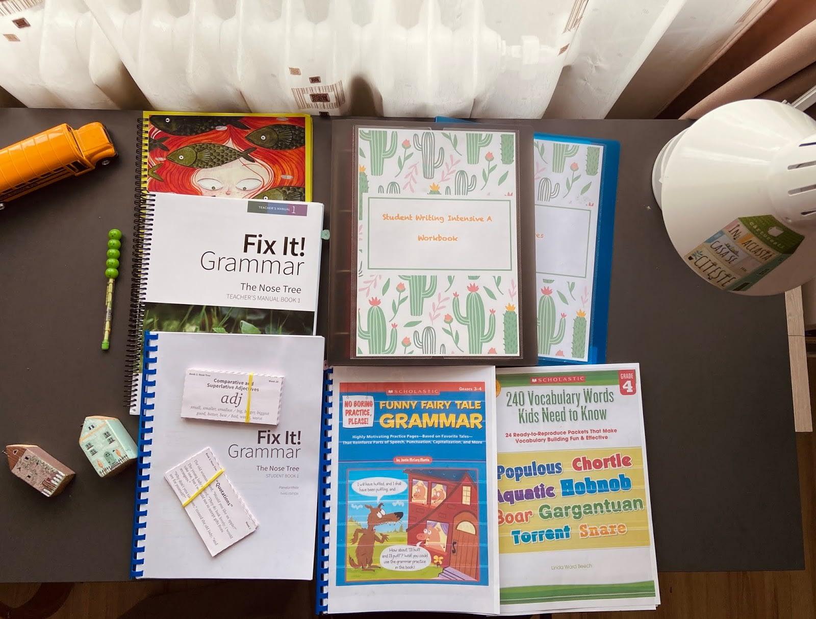 language arts books 4th grade
