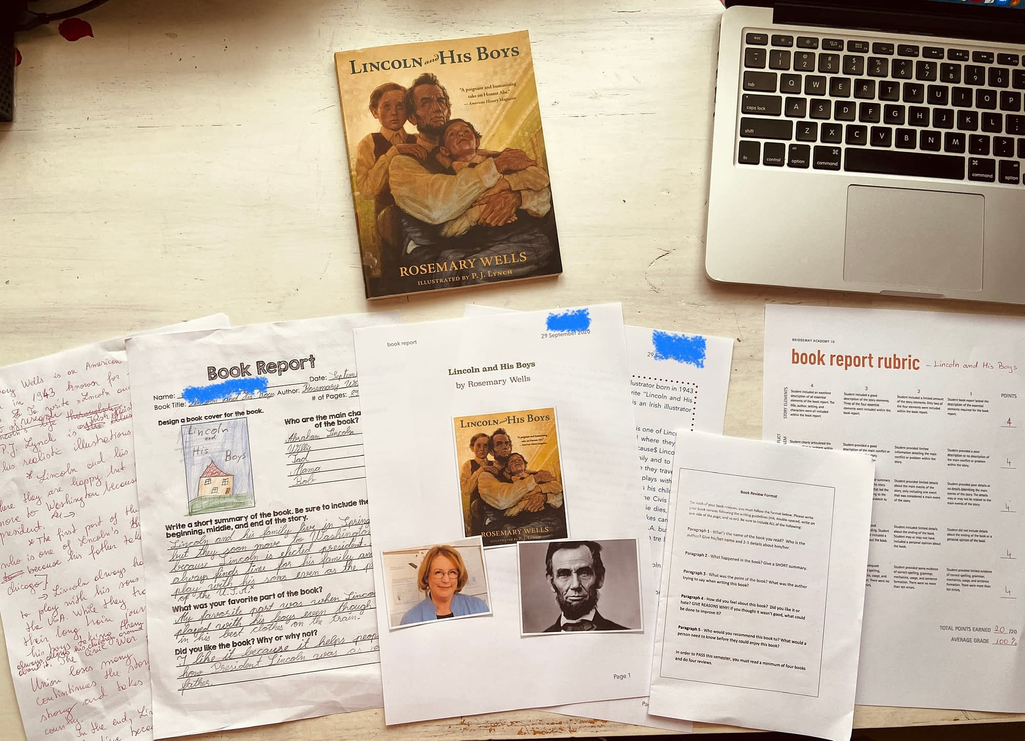 4th grade book reports examples