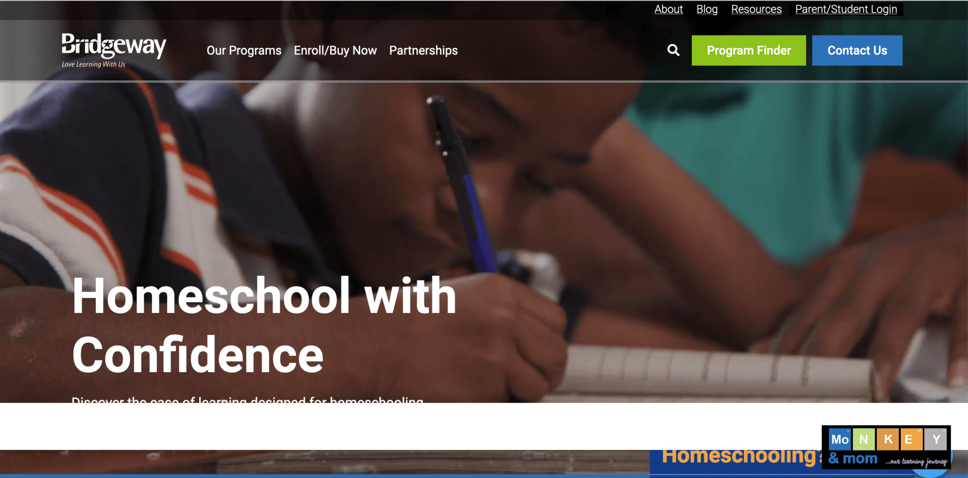 homeschooling with bridgeway academy review