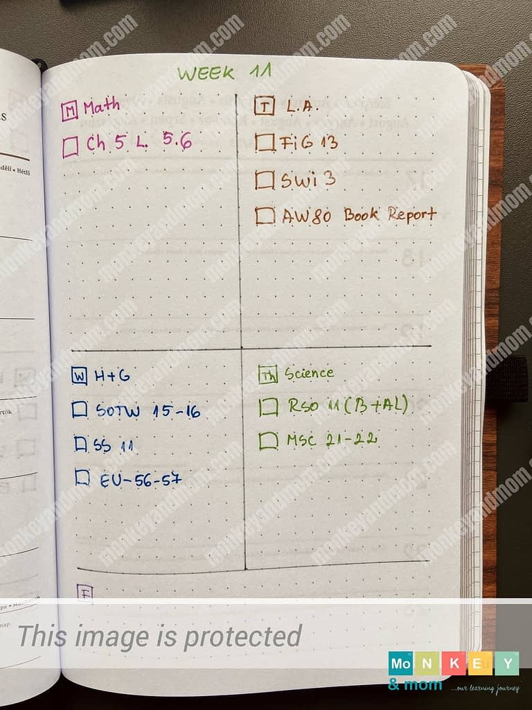 lesson plans schedule and schoolroom