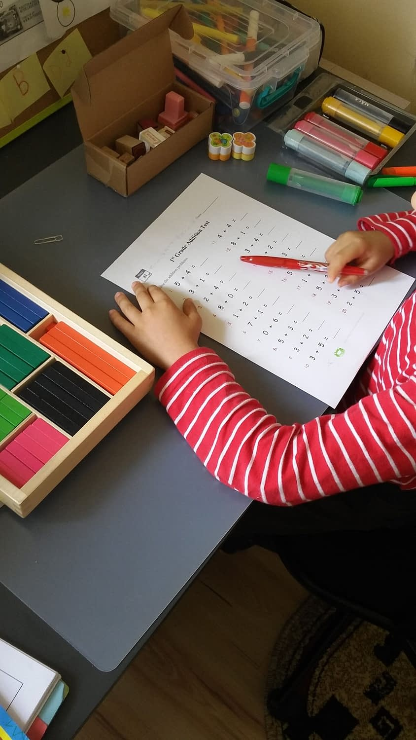 cuisenaire rods addition