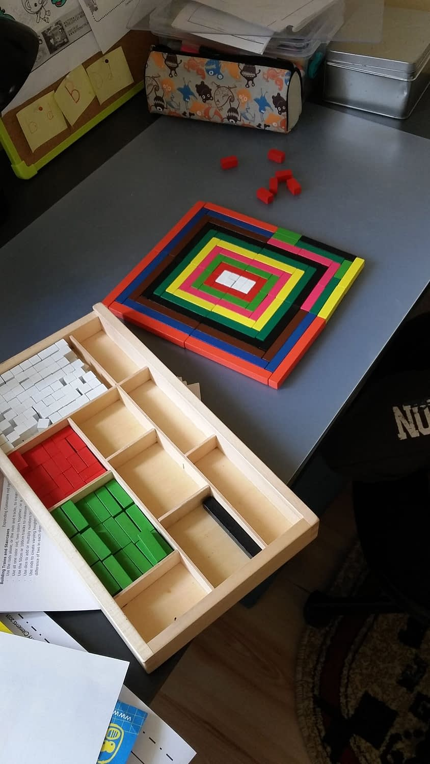 Cuisenaire Rods pattern