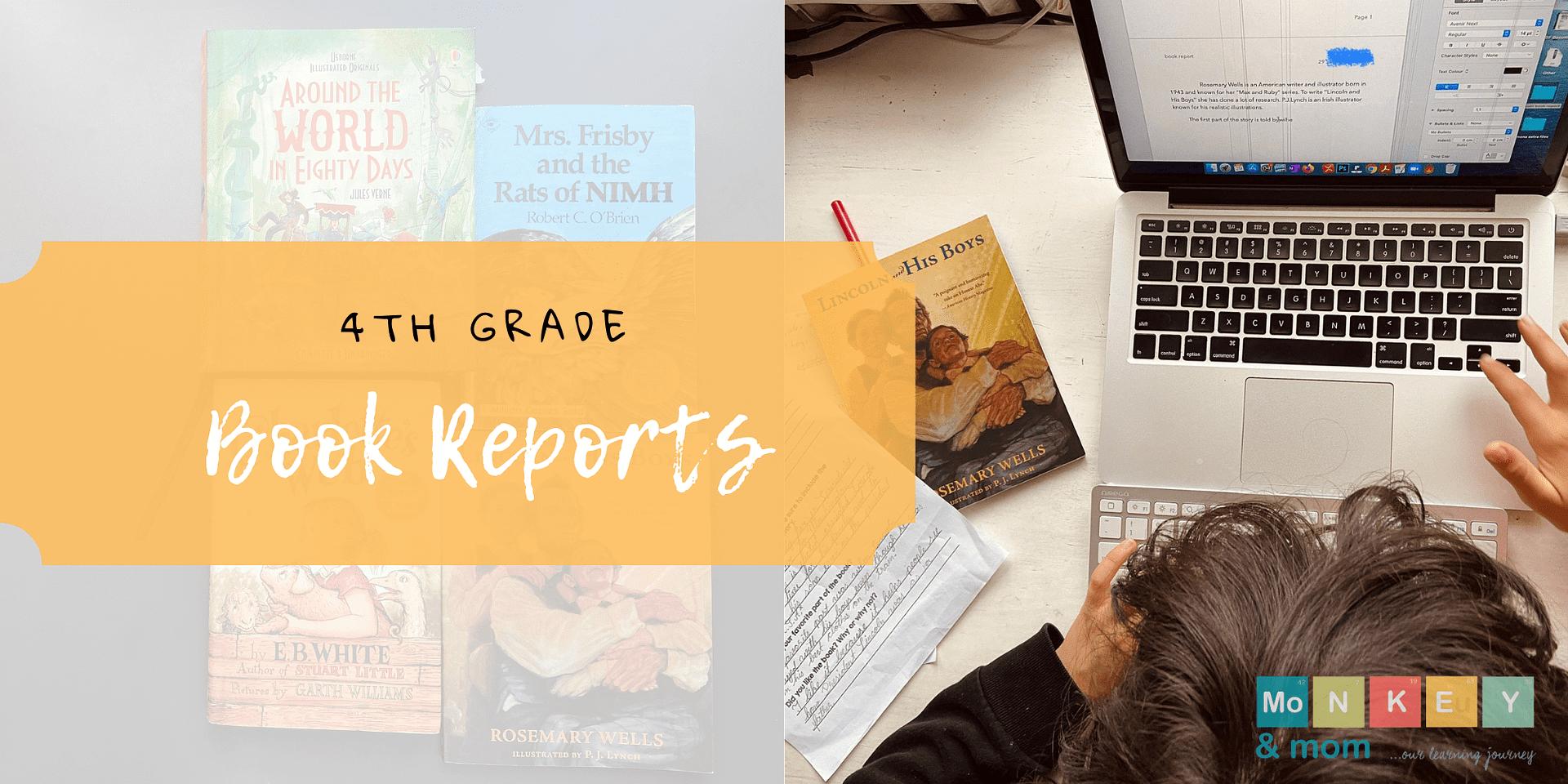 4th grade book reports